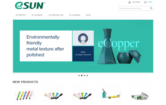 eSUN opens its official 3D printing e-store