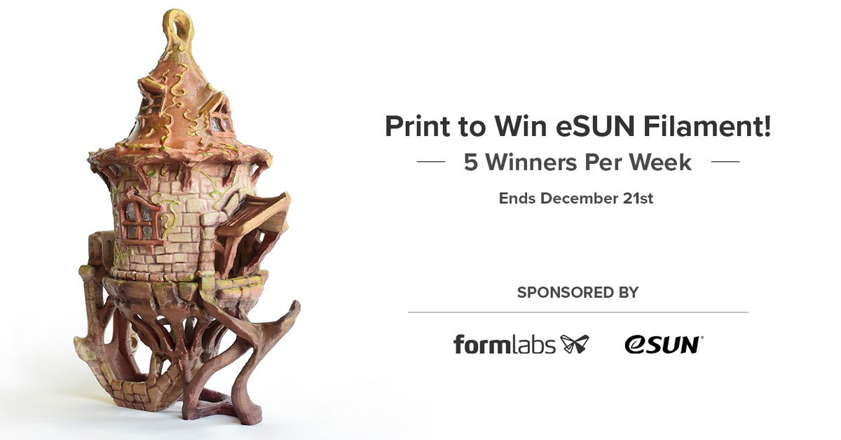 Print to Win eSUN Filament in Pinshape!