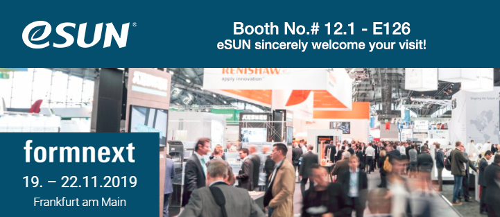Stay tuned for eSUN with 21 innovative products at Formnext 2019