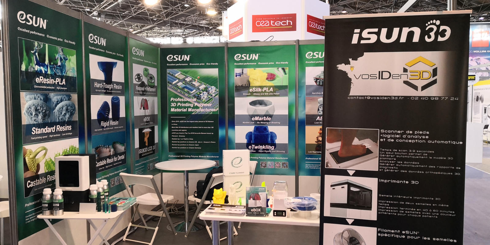 iSUN3D orthopedic customized 3D Printing insole system once again rocked in French [3D PRINT] show!