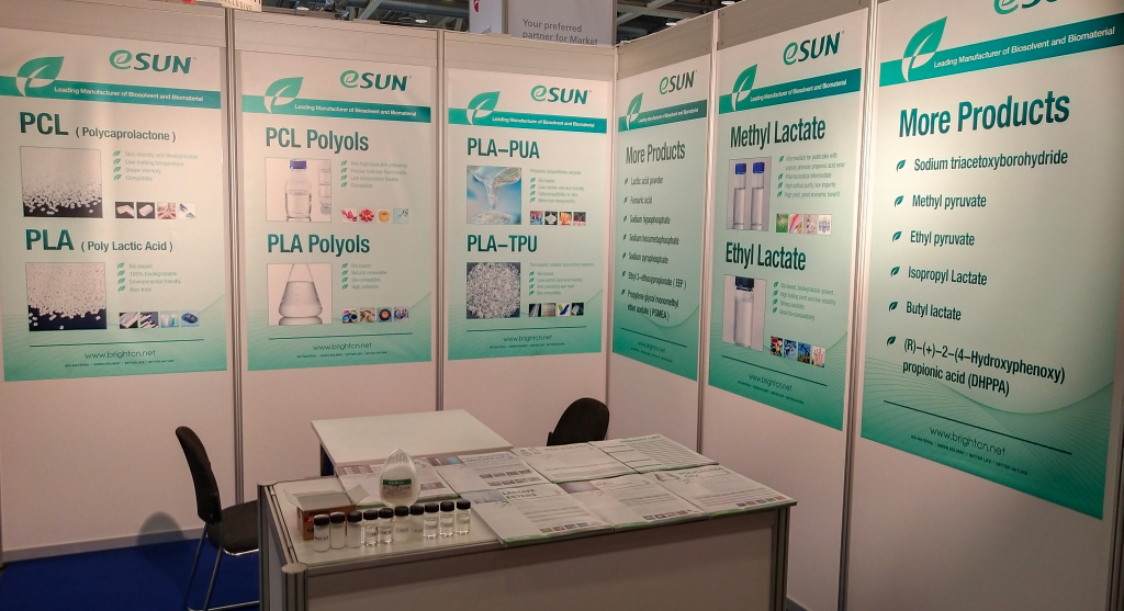 eSUN learns fine & speciality chemicals in Chemspec Europe 2019