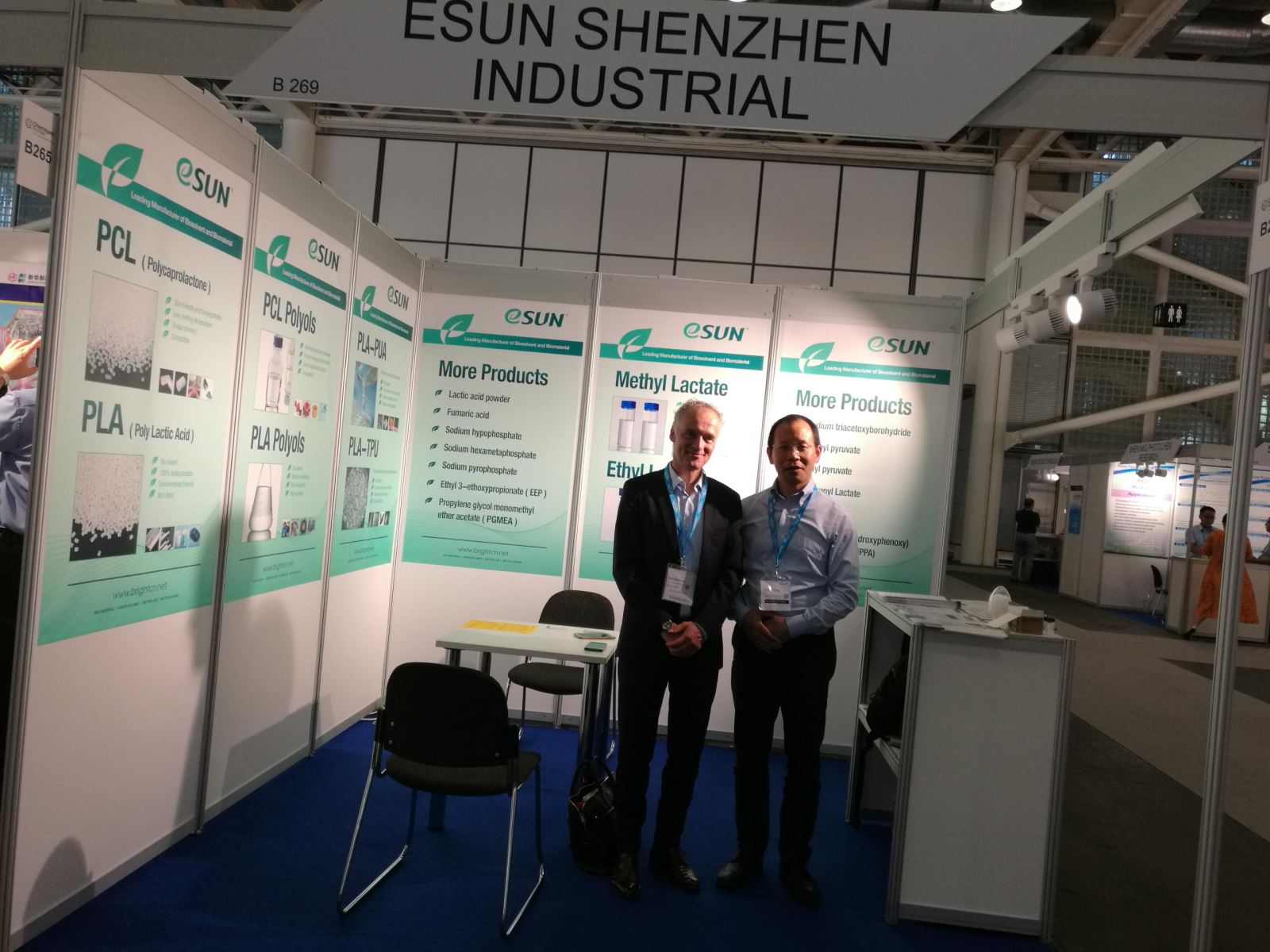 eSUN learns fine & speciality chemicals in Chemspec Europe